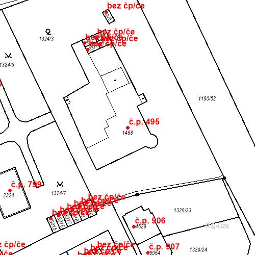 Katastrální mapa Stavební objekt Chrudim IV 495, Chrudim