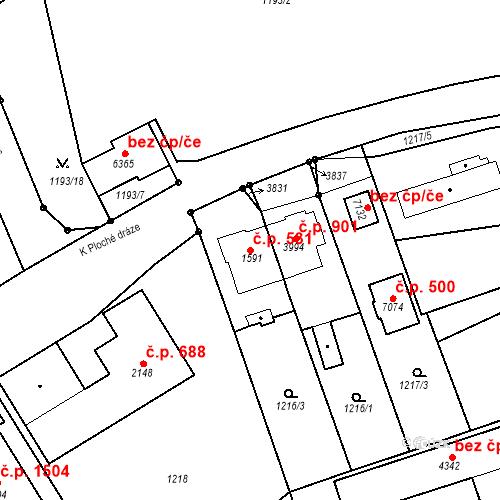 Katastrální mapa Stavební objekt Chrudim IV 531, Chrudim