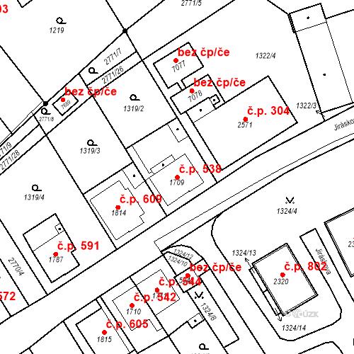 Katastrální mapa Stavební objekt Chrudim IV 538, Chrudim