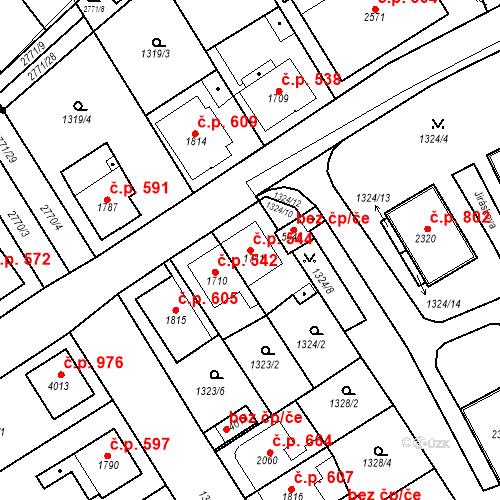 Katastrální mapa Stavební objekt Chrudim IV 544, Chrudim
