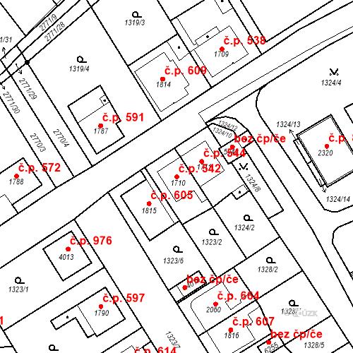 Katastrální mapa Stavební objekt Chrudim IV 542, Chrudim