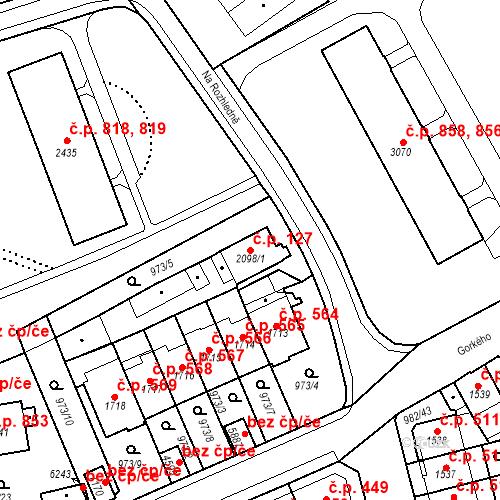 Katastrální mapa Stavební objekt Chrudim IV 127, Chrudim