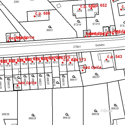 Katastrální mapa Stavební objekt Chrudim IV 574, Chrudim