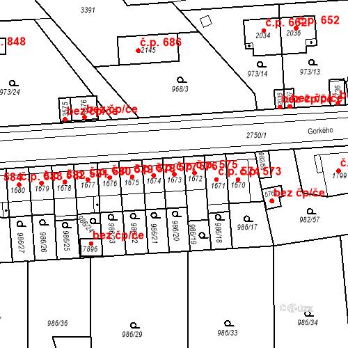 Katastrální mapa Stavební objekt Chrudim IV 576, Chrudim