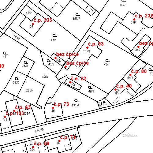 Katastrální mapa Stavební objekt Nasavrky 22, Nasavrky