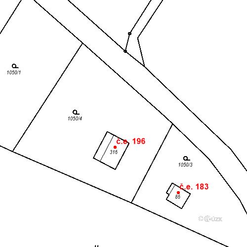 Katastrální mapa Stavební objekt České Lhotice 61, České Lhotice
