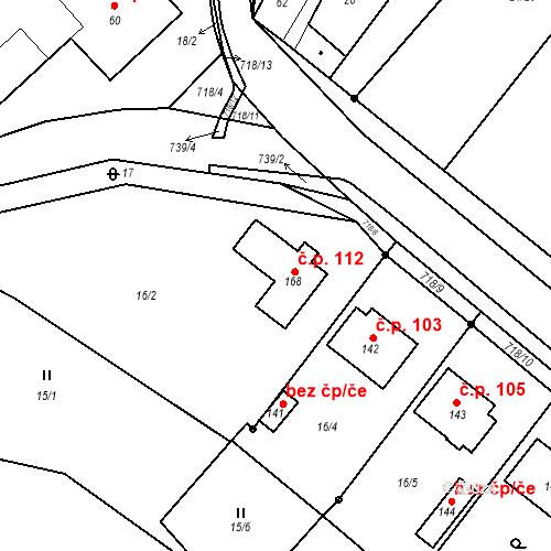 Katastrální mapa Stavební objekt Černá 112, Černá
