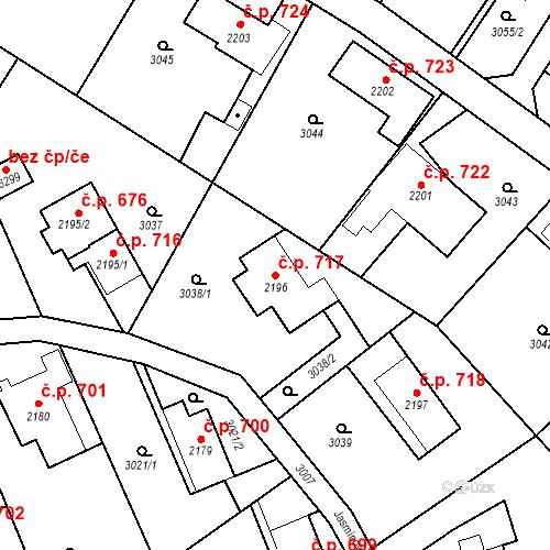 Katastrální mapa Stavební objekt Chrudim IV 717, Chrudim