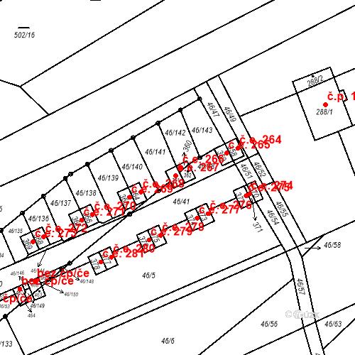 Katastrální mapa Stavební objekt Olbramkostel 267, Olbramkostel