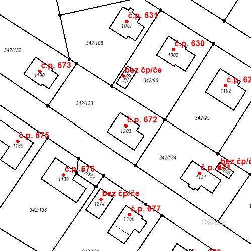 Katastrální mapa Stavební objekt Ždírec nad Doubravou 672, Ždírec nad Doubravou