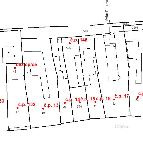 Katastrální mapa Stavební objekt Vnitřní Město 146, Třebíč