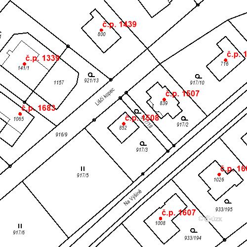 Katastrální mapa Stavební objekt Vrchlabí 1508, Vrchlabí