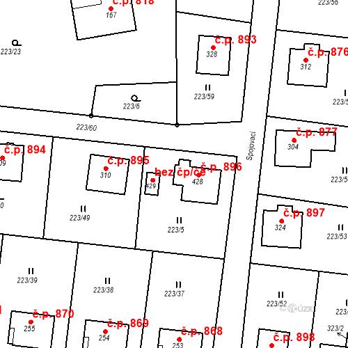 Katastrální mapa Stavební objekt Hrabačov 896, Jilemnice