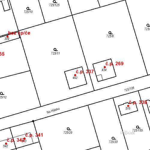 Katastrální mapa Stavební objekt Choltice 337, Choltice