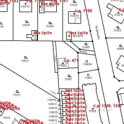 Katastrální mapa Stavební objekt Chotěboř 471, Chotěboř