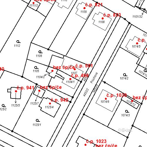 Katastrální mapa Stavební objekt Chotěboř 501, Chotěboř