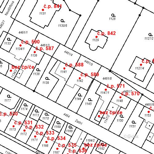 Katastrální mapa Stavební objekt Chotěboř 589, Chotěboř