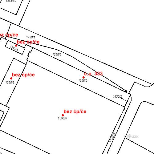 Katastrální mapa Stavební objekt Chotěboř 333, Chotěboř