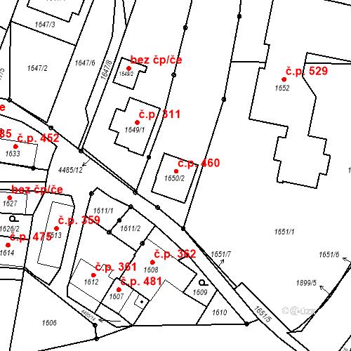 Katastrální mapa Stavební objekt Chotěboř 460, Chotěboř