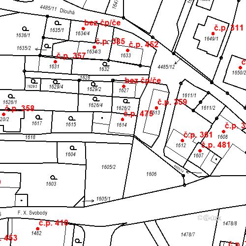 Katastrální mapa Stavební objekt Chotěboř 475, Chotěboř