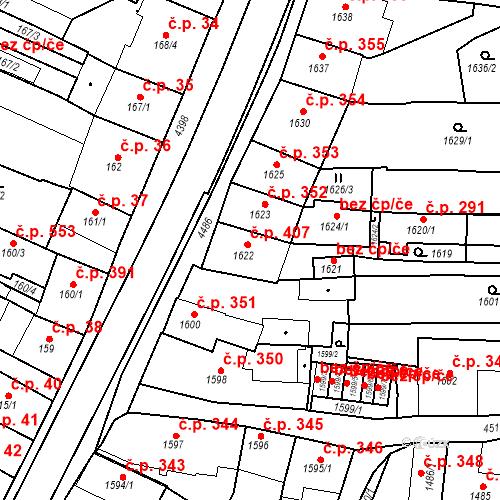Katastrální mapa Stavební objekt Chotěboř 407, Chotěboř