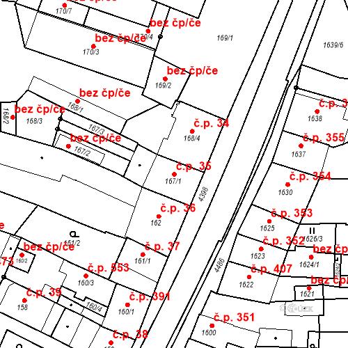 Katastrální mapa Stavební objekt Chotěboř 35, Chotěboř