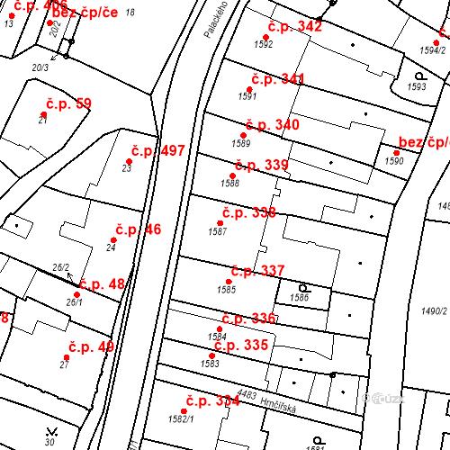 Katastrální mapa Stavební objekt Chotěboř 338, Chotěboř