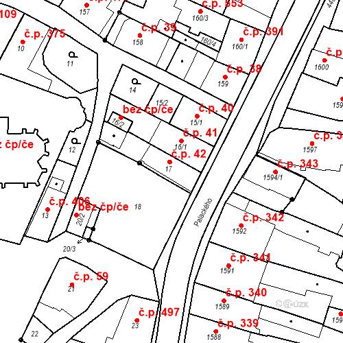Katastrální mapa Stavební objekt Chotěboř 42, Chotěboř