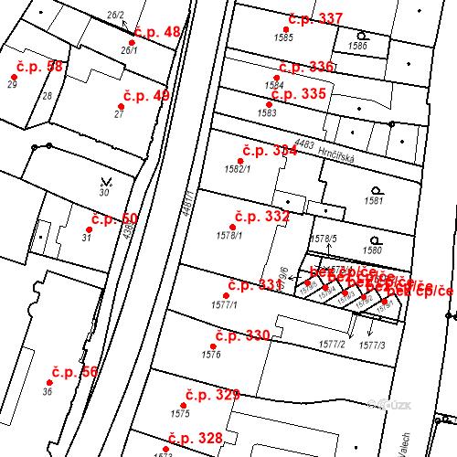 Katastrální mapa Stavební objekt Chotěboř 332, Chotěboř