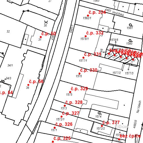 Katastrální mapa Stavební objekt Chotěboř 330, Chotěboř
