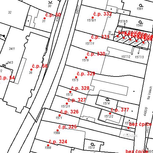 Katastrální mapa Stavební objekt Chotěboř 329, Chotěboř
