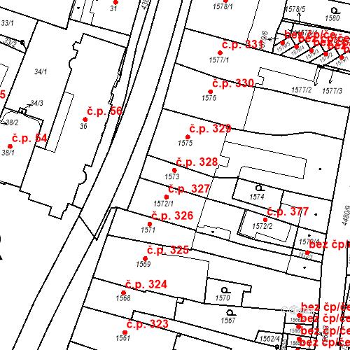 Katastrální mapa Stavební objekt Chotěboř 328, Chotěboř