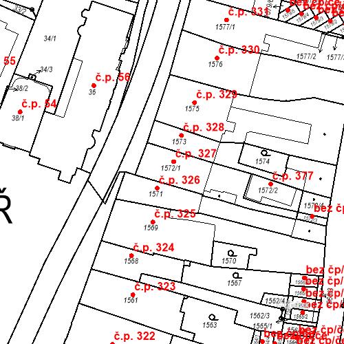 Katastrální mapa Stavební objekt Chotěboř 327, Chotěboř