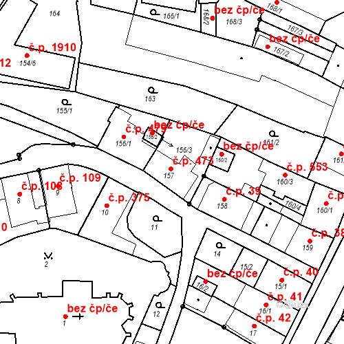 Katastrální mapa Stavební objekt Chotěboř 473, Chotěboř