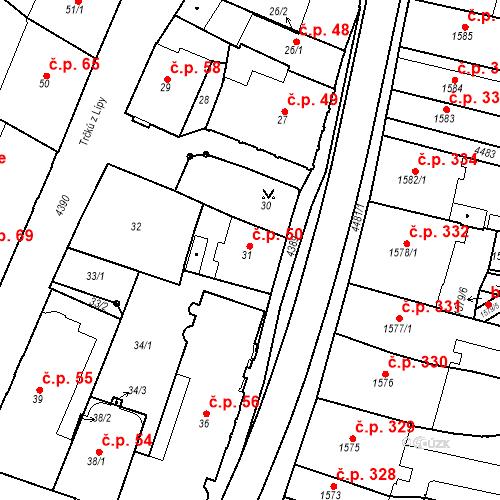 Katastrální mapa Stavební objekt Chotěboř 50, Chotěboř
