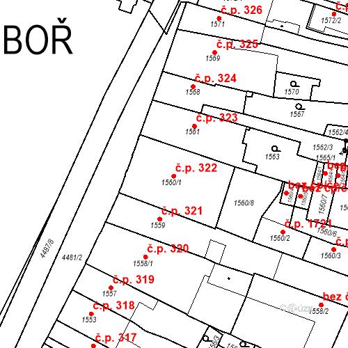 Katastrální mapa Stavební objekt Chotěboř 322, Chotěboř