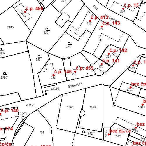 Katastrální mapa Stavební objekt Chotěboř 459, Chotěboř