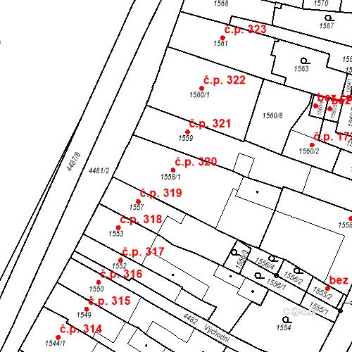 Katastrální mapa Stavební objekt Chotěboř 320, Chotěboř