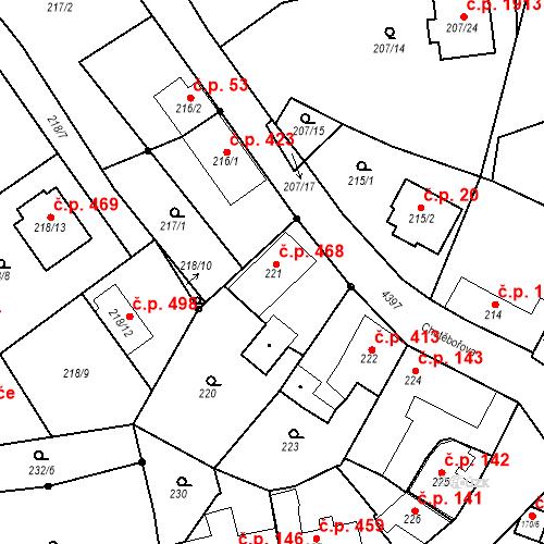 Katastrální mapa Stavební objekt Chotěboř 468, Chotěboř