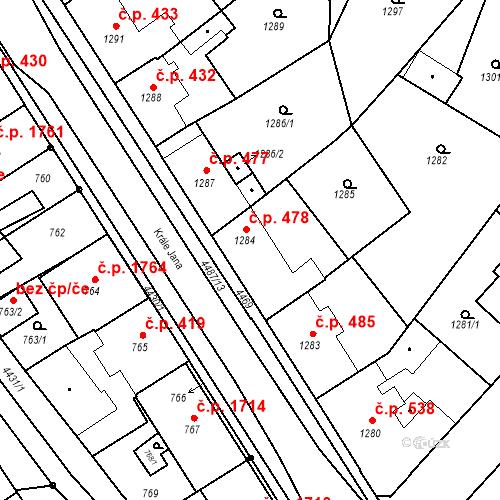 Katastrální mapa Stavební objekt Chotěboř 478, Chotěboř