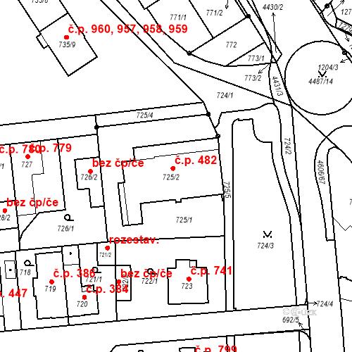 Katastrální mapa Stavební objekt Chotěboř 482, Chotěboř