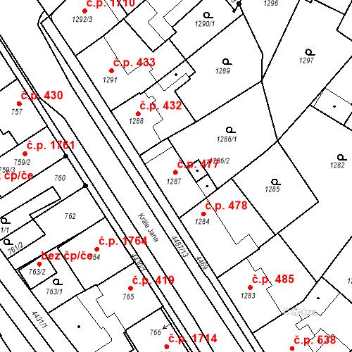 Katastrální mapa Stavební objekt Chotěboř 477, Chotěboř