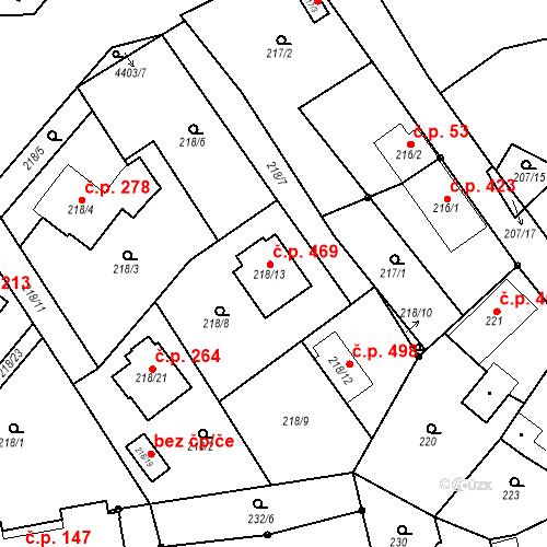 Katastrální mapa Stavební objekt Chotěboř 469, Chotěboř