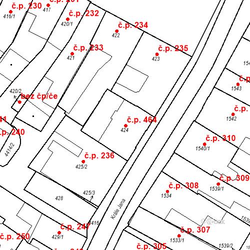 Katastrální mapa Stavební objekt Chotěboř 464, Chotěboř