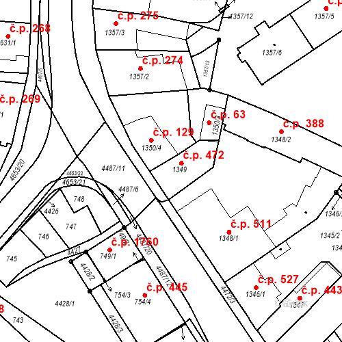 Katastrální mapa Stavební objekt Chotěboř 472, Chotěboř
