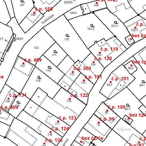 Katastrální mapa Stavební objekt Chotěboř 500, Chotěboř
