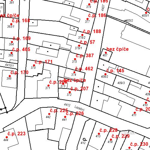 Katastrální mapa Stavební objekt Chotěboř 462, Chotěboř