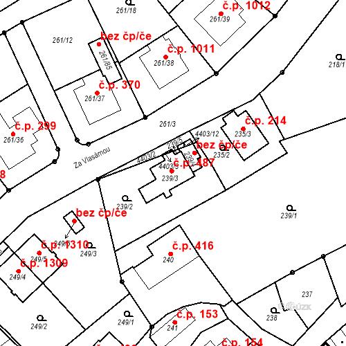 Katastrální mapa Stavební objekt Chotěboř 487, Chotěboř