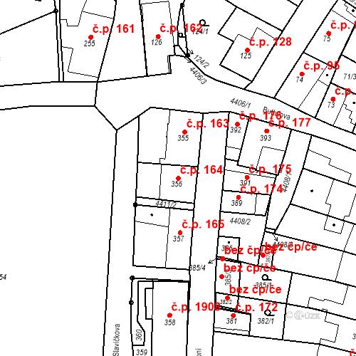 Katastrální mapa Stavební objekt Chotěboř 164, Chotěboř