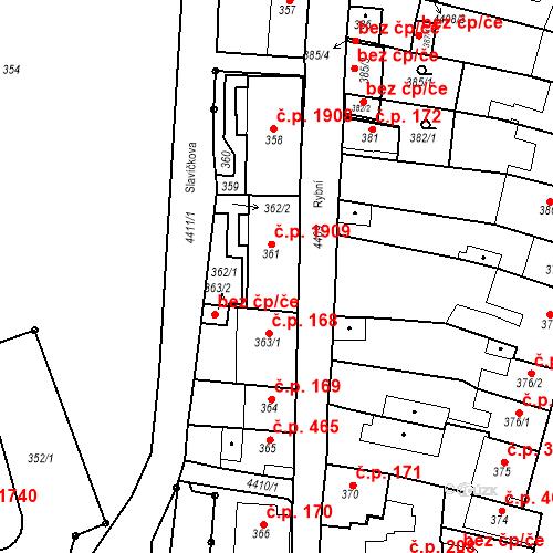 Katastrální mapa Stavební objekt Chotěboř 474, Chotěboř